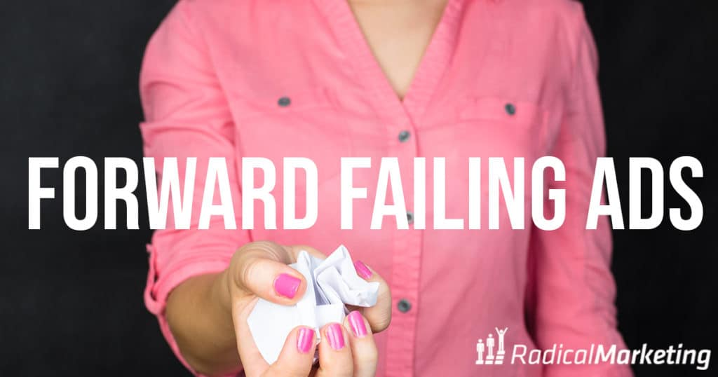 how to fail forward with facebook ads