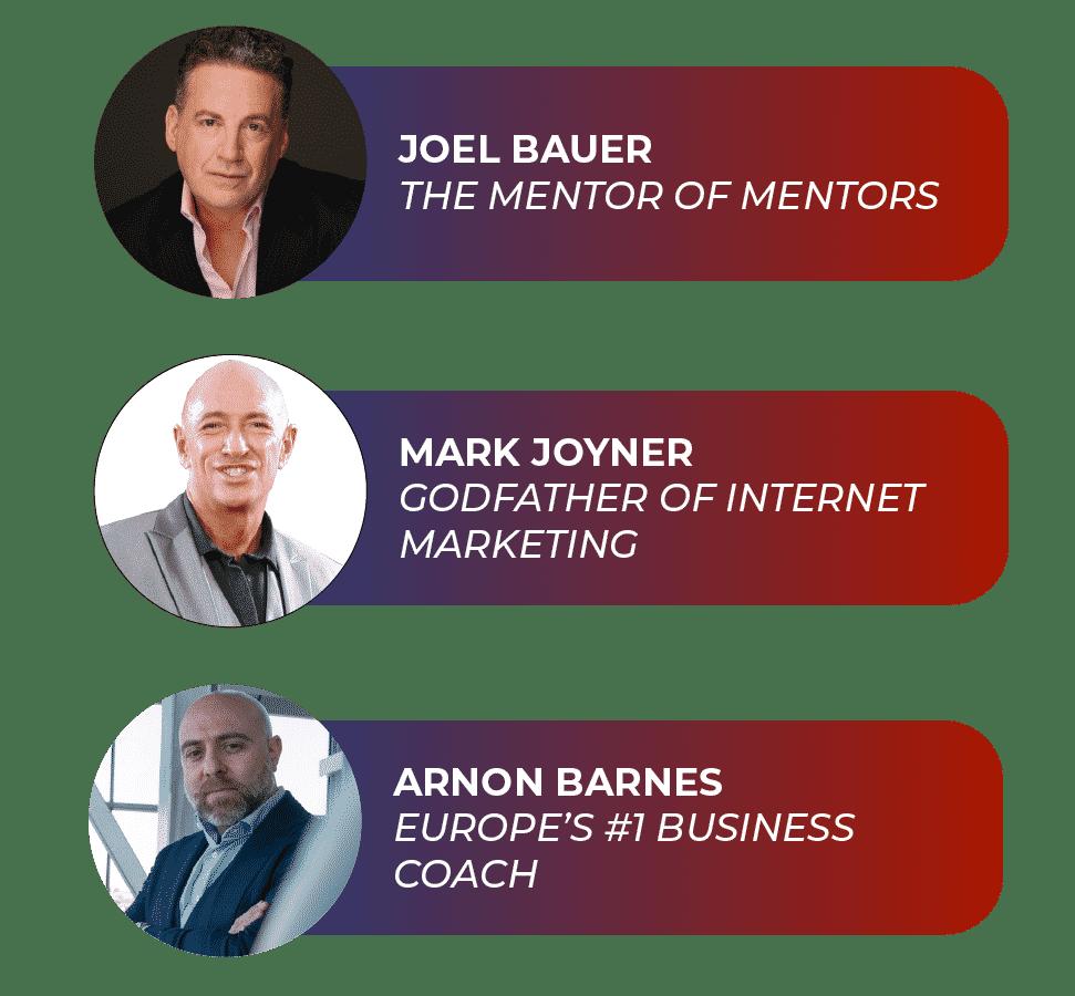 Speaker Marketing for Joel Bauer, Mark Joyner, Arnon Barnes